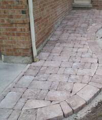 Interlocking Brick Walkway