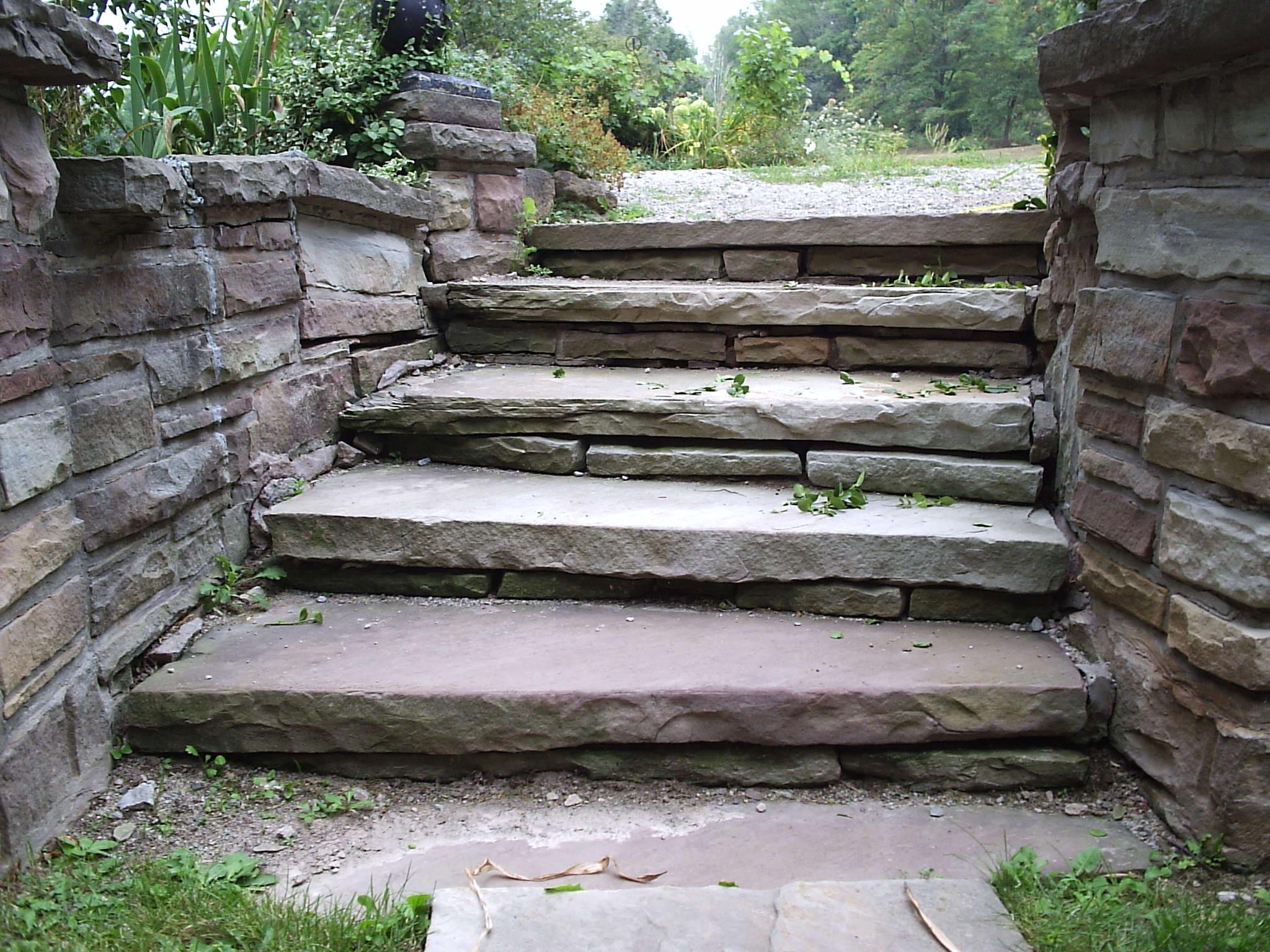 Stone Stairway And Brick Repair